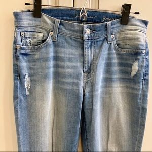 7 For All Mankind Gwenevere skinny size 28